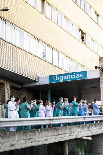 Zaragoza durante Coronavirus, sanitarios Miguel Servet
