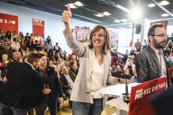 Pilar-Alegría-durante-la-campaña-electoral-2019-Mitin-PSOE
